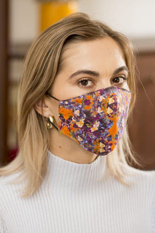 Colourful women's cotton face mask.