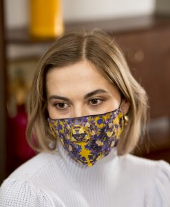 Colourful women's cotton face mask.