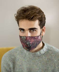 Men's cotton face mask in wine.