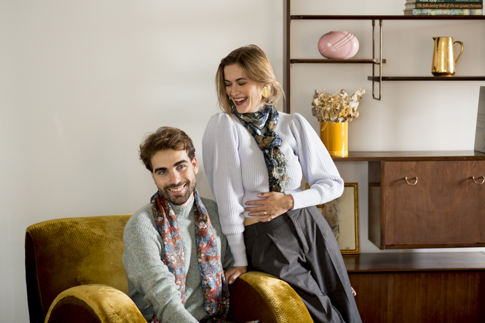 Silk Wool Scarves for Men & Women