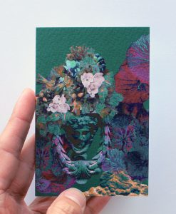 Floral print greeting card.