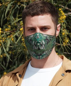 green cotton mask
