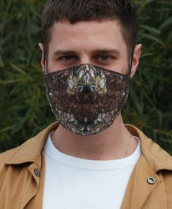deep red cotton mask