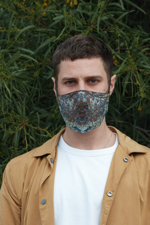 shades of blue cotton mask