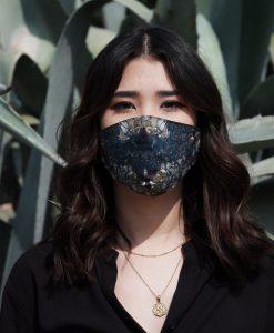 dark coloured cotton mask