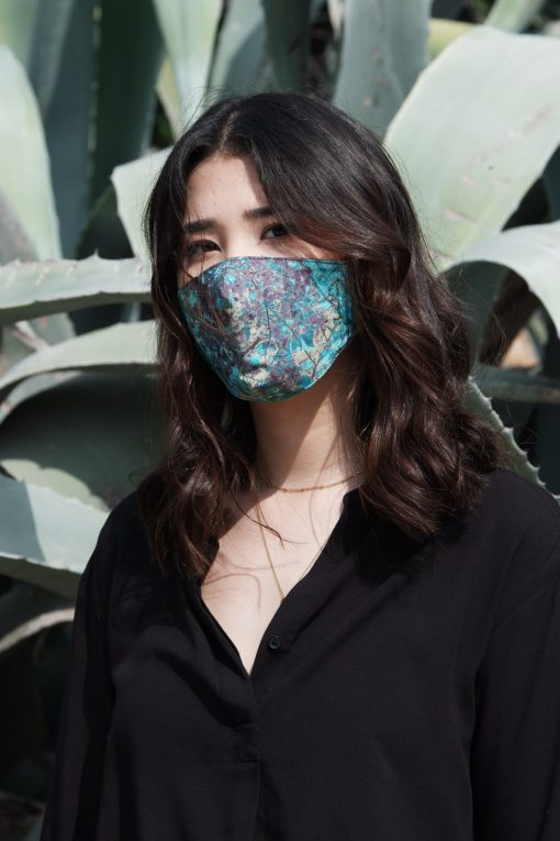 light blue cotton mask