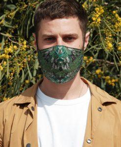 green cotton mask