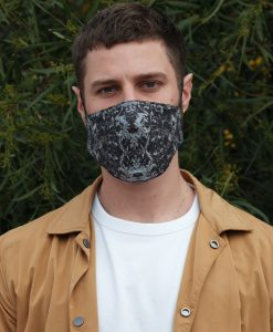 dark coloured cotton mask