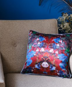Burgundy cushion cover