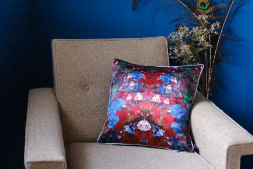 Burgundy cushion cover