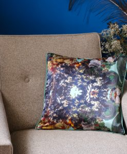 Blue green cushion cover